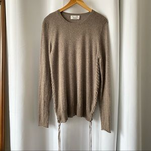 Reformation 100% Cashmere Taupe Sweater